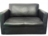 black-mock-leather-double-couch