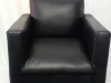 black-mock-leather-single-seater