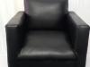 black-mock-leather-single-seater