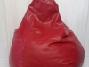 red-mock-leather-beanbag