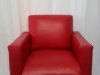 red-mock-leather-single-seater