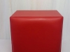 red-mock-leather-square-ottoman